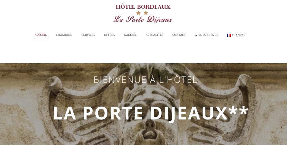 webdesign bordeaux site web wordpress hotel emilie baroin