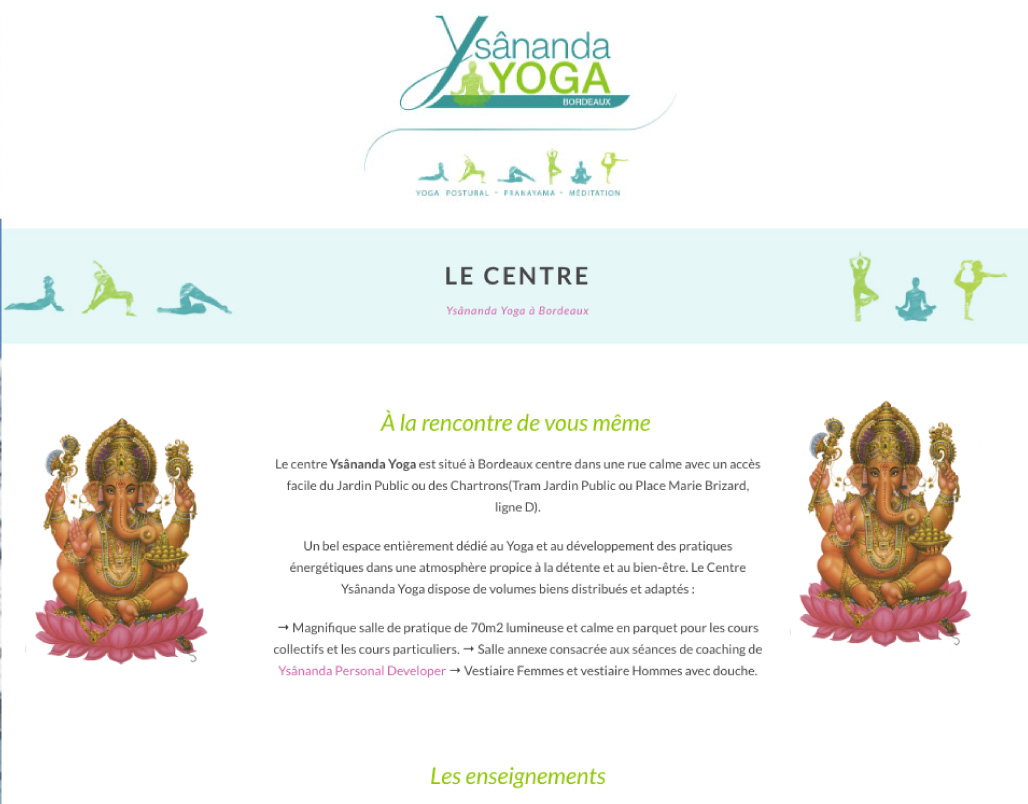 seo referencement optimisaiton site vitrine bordeaux yoga